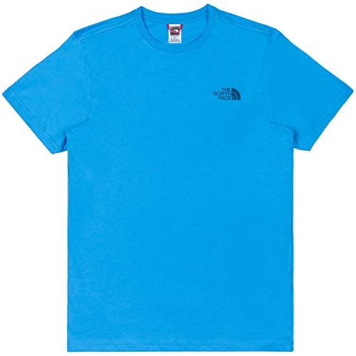 The North Face M S/S Simple Dome Te Clear Lake Blue T-Shirt Homme, FR : S (Taille Fabricant : S)
