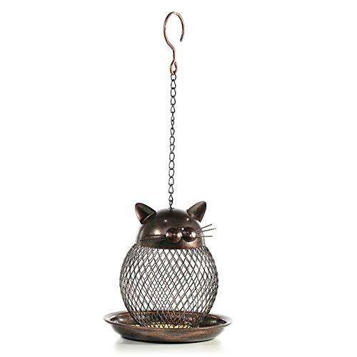 Metall-Seed-Ball Wild Bird Feeder, Klein Hängen Seed Feeder Für Den Garten, Lebensmittel-Dispenser Außen Vogel-Zufuhr-Eichhörnchen Proof Metall,A