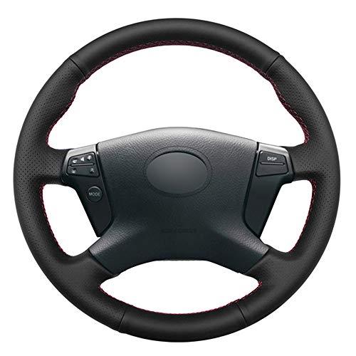 Cubierta de Volante de Coche de Cuero PU Negro DIY, para Toyota RAV4 Celica IS200 IS300 1998-2005, para Corolla Matrix MR2 2000-2008