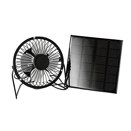 ZJSXIA Ventilador solar USB Mini Ventilación de refrigeración USB Portátil Oficina en el hogar Viajes al aire libre Teléfono móvil Powered Panel Solar Ventilador pequeño ventilador