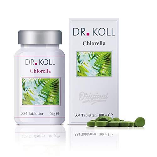 Dr. Koll Chlorella Tabletten | Pflanzenextrakt | 100 % rein, Chlorella vulgaris | Mikroalgen aus Deutschland | Natürliches Nahrungsergänzungsmittel (334 Tabletten, 100 g)