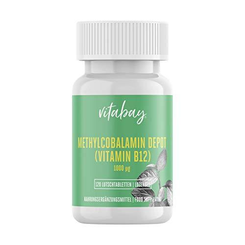 Metilcobalamina - 1000 mcg - Pastillas de vitamina B12 Depot - Vegano (120 pastillas veganas)