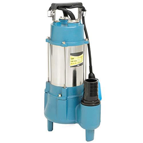 "Stark 1.5HP Submersible Sewage Pump 7100 GPH Stainless Steel Heavy Duty Float Switch Garden Sprinkler 1"" inch Outlet, 220V"