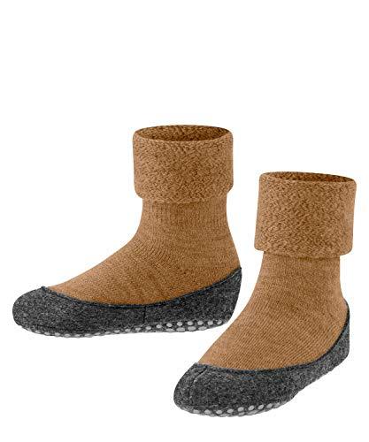 FALKE Unisex Kinder K HP Hausschuh-Socken Cosyshoe, Schurwolle, 1 Paar, Braun (Earth 5110), 35-36 (9-10 Jahre)