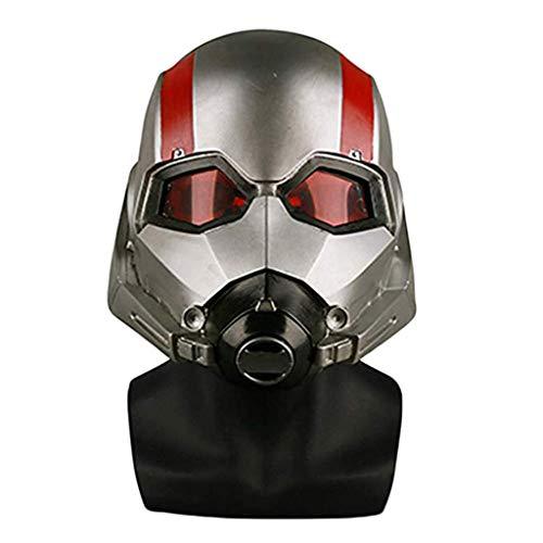 GanSouy Ant-Man und die Wasp, Ant-Man-Maske Marvel Legends Serie Cosplay-Maske - Perfekt für Karneval und Halloween - Kostüm für Erwachsene - Latex, Unisex,Ant Man A-55cm~63cm