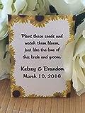 Sunflower border wedding seed packets (set of 50) - sunflower wedding favors