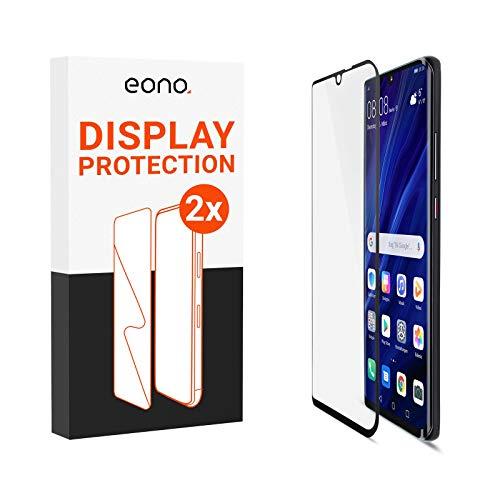 Amazon Brand – Eono 3D Schutzglas kompatibel mit Mate 20 Pro - HD Displayschutz gegen Displaybruch - 9H, Full Cover - 2 Stück