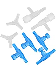 Worii Conector de Tres vías, válvula de Control, Accesorio de Tubo de Bomba de Aire para pecera, válvula de Control de tubería de Aire, plástico para pecera de Acuario