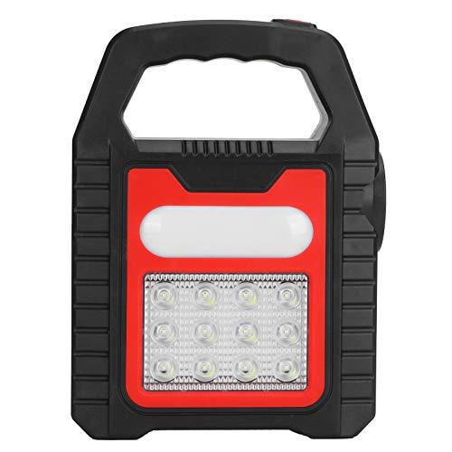 Jingyig Repairing Light, Handheld High Brightness USB Charging Solar Charging Searchlight, for Hiking Camping