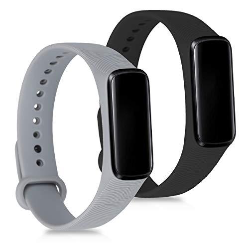 kwmobile Samsung Galaxy Fit e Cinturino in Silicone - 2X Fascetta con Fibbia ca. per Samsung Galaxy Fit e