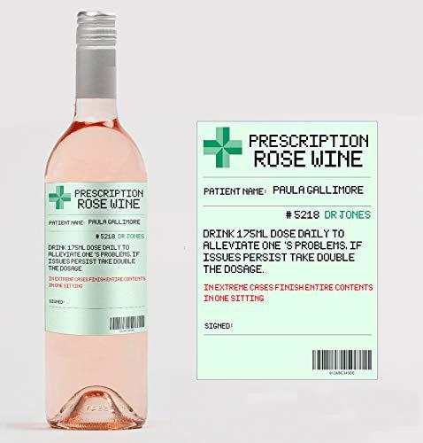 Gepersonaliseerd recept Rose Wijnfles Label Aangepast - Elke bewoording