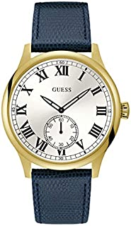 Guess Dress Watch for Men, Stainless Steel Case, White Dial, Analog -W1075G2