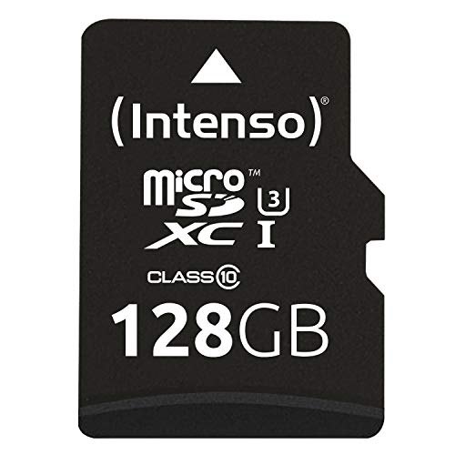 Intenso 3433491 Professional microSDHC UHS-I Class 10 128GB Speicherkarte inkl. SD-Adapter (bis 90Mbps) schwarz