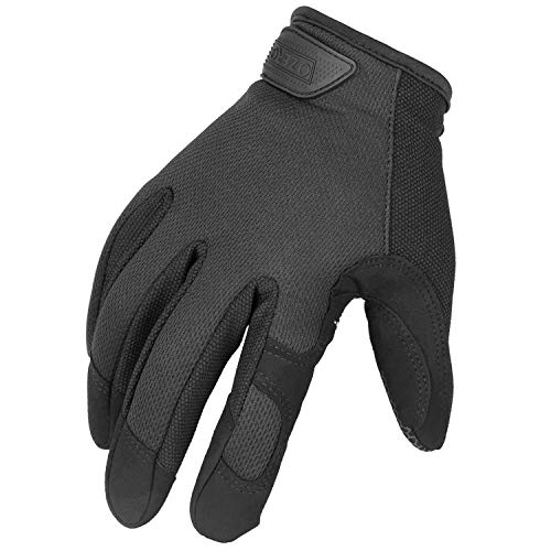 Work Gloves Touch Screen for Tactical/Shooting/Hunting/Driving/Motorcycle Riding/Cycling - Improved Dexterity and Extra Grip Mechanic Glove for Men and Women 1 Pair (Black,Large)