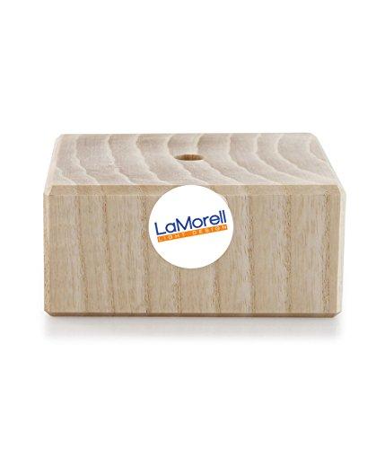 Rosace carré en bois de frêne