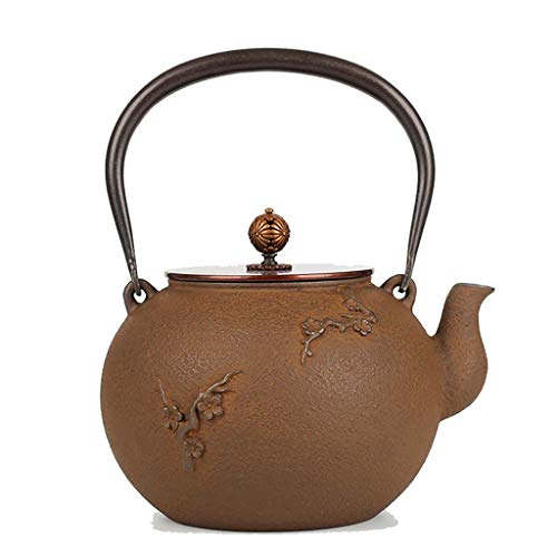 Cast Iron Teapot,tea Kettle Cast Iron,Best Japanese Cast Iron Teapot With Infuser, Tea Kettle And Tea Pot For Stove Top, Used For Bulk Tea And Tea Bags, White Tea, Wood Fruit Tea, Health Tea, Brown
