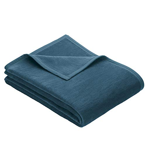 IBENA knuffeldeken / sprei / wollen deken hedendaags 100 x 150 cm turquoise