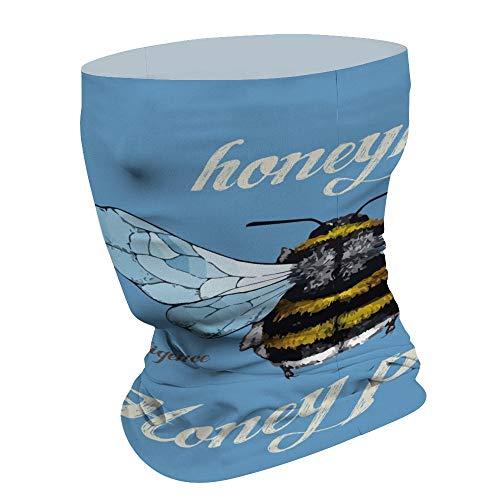 Honing Picker Multifunctionele gezichtsmasker Bandana Neck Gaiter Hoofdband Zon Masker Gezicht Sjaal Balaclava, Voor Outdoor Sport,Voor Vrouwen Mannen