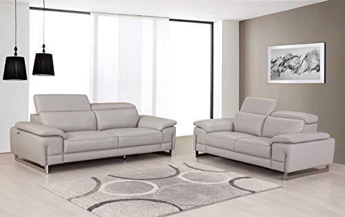 Blackjack Furniture 411 LIGHT GRAY 2PC 411-Light-Gray-2PC Upholstered Sofa Set
