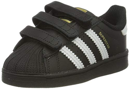 Adidas Superstar CF Jr, Zapatillas Deportivas, Core Black/FTWR White/Core Black, 26 EU