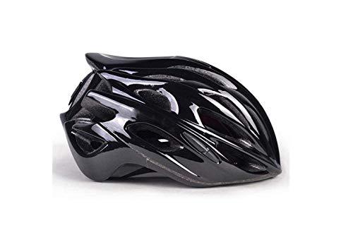 SEESEE.U Vélo de Montagne Casque Cycle Casque Dames Réglable Vélo Vélo Casque Mâle Montagne Vélo Casque Femelle Livraison Sac De Rangement Lumière, Noir, M