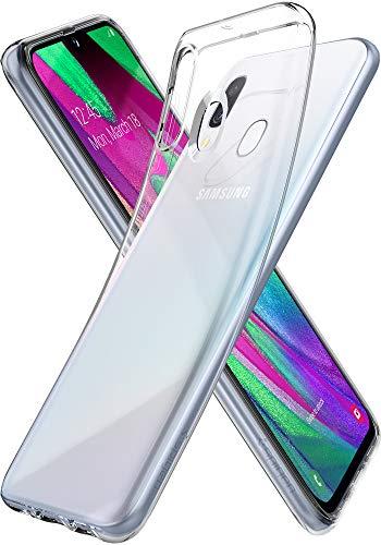 Spigen Liquid Crystal Hülle Kompatibel mit Samsung Galaxy A40 -Crystal Clear