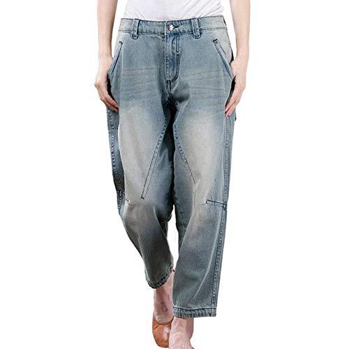 Sommer Plus Size Baumwolle Jeans Frau Loose Casual Washed Boyfriend Jeans Für Frauen Damen Jeans Haremshose