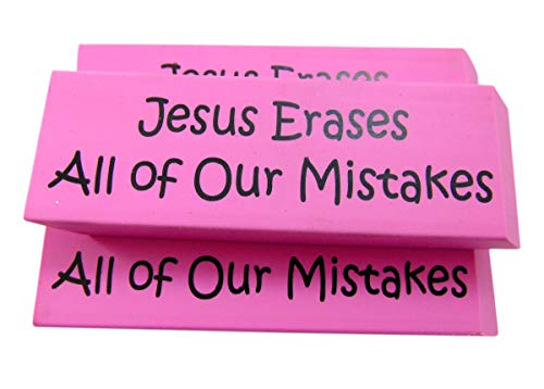 Jesus Erases All of Our Mistakes Extra Large Eraser Classroom Reward Set Pack of 3