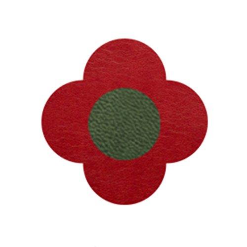 AMANOGAWA ブートニエール 132色 レザー 革 タックピン ラペルピン ブローチ ピンブローチ メンズ レディース 花 赤 レッド 緑 グリーン