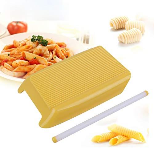 LifeBest Espaguetis Macarrones Tablero Pasta de plástico Molde para macarrones con Rodillo...