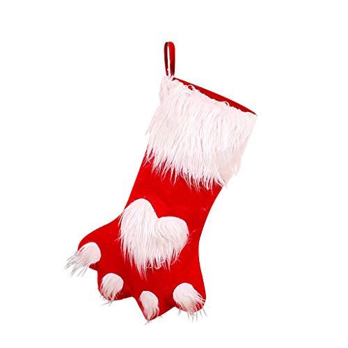 carol -1 Nikolausstiefel zum Befüllen Weihnachtsstrumpf Weihnachtsdekoration Weihnachsstrumpf Hängende Strümpfe für Weihnachtsdeko Christmas Stocking Weihnachtssocke Socken für Kamin Candy