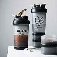 KAISWK ブレンダーボトル BPAフリー シェーカーボトル 漏れ防止 プロテインシェイカー 水筒 スポーツボトル (500ml,B)