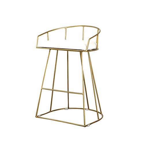 Tabourets de bar de créativité, Golden Iron Art tabouret de bar Restaurant Cafe fauteuil simple chaise haute ménage décontracté tabouret décoratif hauteur 65-75 CM (taille : 65cm)