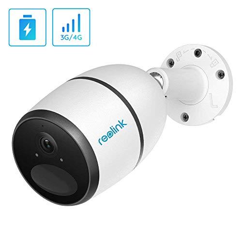 Reolink Go kabellose LTE Überwachungskamera Aussen, 1080P IP Kamera mit wiederaufladbarem Akku, 4G/3G, 2-Wege-Audio, SD Kartenslot (inkl. V-SIM Karte)