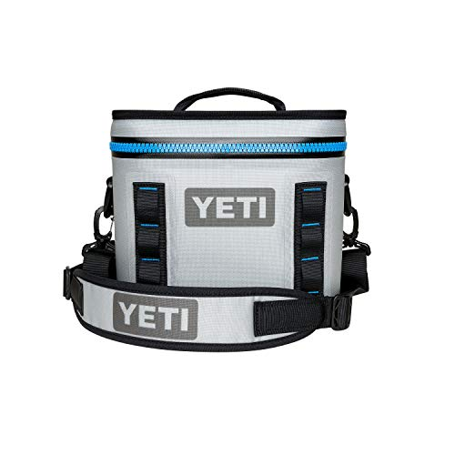 YETI Hopper Flip 8 Portable Cooler, Fog Gray/Tahoe Blue