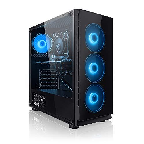 Megaport PC Gamer Nomad - AMD Ryzen 5 2600 6x3.40 GHz • GeForce GTX1050Ti • 16Go RAM • 1To • Windows 10 • Unité Centrale Ordinateur de Bureau PC Gaming PC Ordinateur Gamer