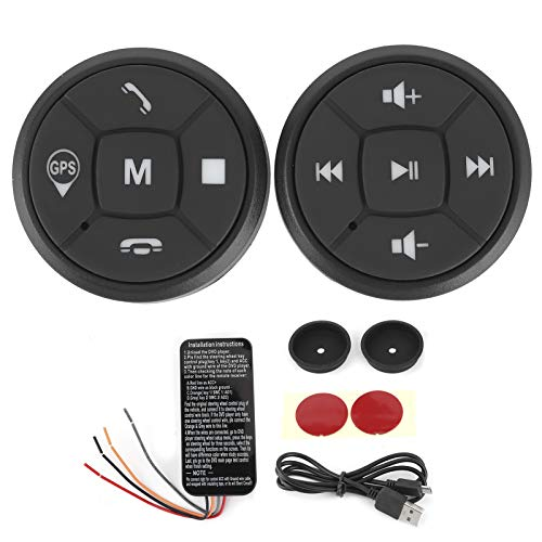 zhuolong Interruptor del Controlador, botón de Control del Volante Volumen de la Radio Interruptor del Controlador inalámbrico GPS
