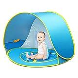 CeeKii - Tenda da spiaggia per bambini, pieghevole, portatile, protezione solare, anti-UV 50, per la spiaggia, il parco, colore: blu