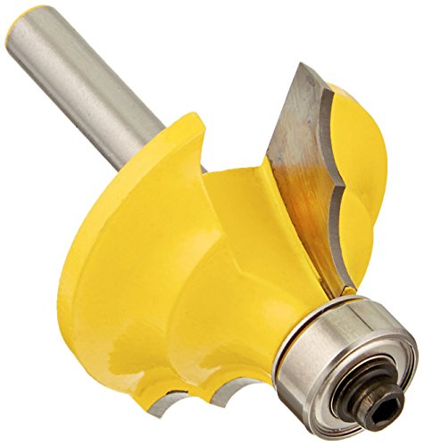Yonico 13130q 1/2-Inch Double Round Over Edge Forming Router Bit 1/4-Inch Shank