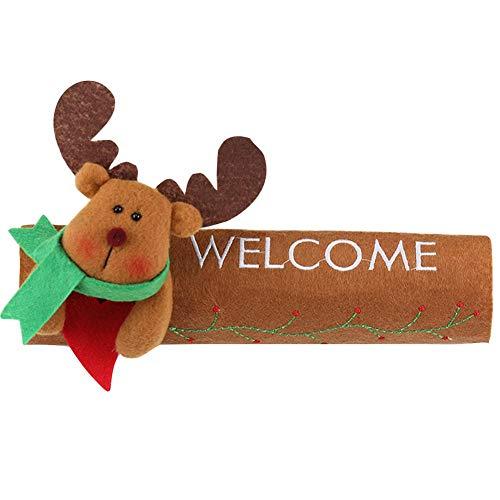 Beste Kwaliteit - Dit product behoort tot huis - 16 * 24 cm Kerst Koelkast Deurkruk Cover Keuken Apparaat Decor handgrepen Antiskid Protector Handschoenen voor Koelkast Oven - door Rocco - 1 PC's Elk
