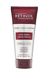 commercial Anti-Aging Retinol Hand Cream – Original Retinol Brand for Young Hands – Rich,… robanda hand cream