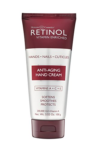Retinol Anti-Aging Hand Cream – The Original Retinol Brand For Younger Looking Hands –Rich, Velvety Hand Cream Conditions & Protects Skin, Nails & Cuticles – Vitamin A Minimizes Age's Effect on Skin
