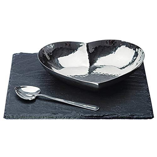 Juste Slate Cœur Motif Plat et cuillère de cuisine