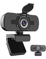 iAmotus Webcam 1080P, Full HD Computercamera met Ingebouwde Microfoon en Cameradeksel Plug en Play USB Webcamera voor PC, Laptops en Desktop Gebruikt voor Live Streaming, Videogesprekken, Conferenties