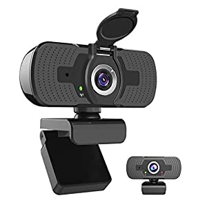 iAmotus Webcam 1080P Full HD con Micrófono Incorporado y Cubierta de Privacidad Cámara Web Mini USB Plug Play Webcam para Video Chat y Grabación, Compatible con PC Windows, Computadora Mac (Negro)