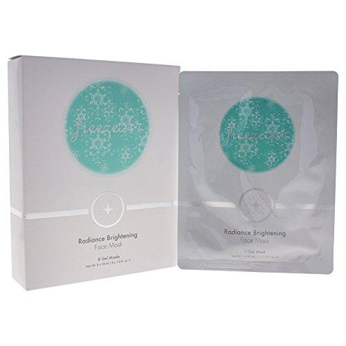Freeze 24.7 Radiance Brightening Face Mask (8 Gel Masks) 1oz/30ml New In Box