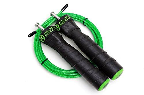 Alien Scout Springseil Speed Rope Professionelles, einstellbares Hochgeschwindigkeits-Springseil - Kugellager und Anti-Rutsch-Griffe - für Boxen, Crossfit, MMA und Fitness – Extra-Seil MEHRWEG