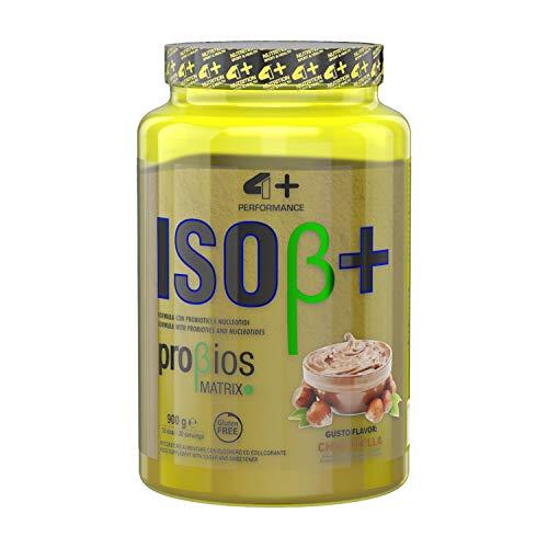 4+ NUTRITION - Iso β+, Integratore Sportivo, Proteine del Siero del Latte Isolate, Aumento di Energia, Resistenza e Recupero Veloce, in Polvere, Gusto Chocotella, 900 gr