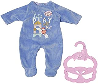 Baby Annabell Zapf Creation 706244 Baby Annabell Little Strampler blau 36 cm - blauer Puppenstrampler mit Kleiderbügel