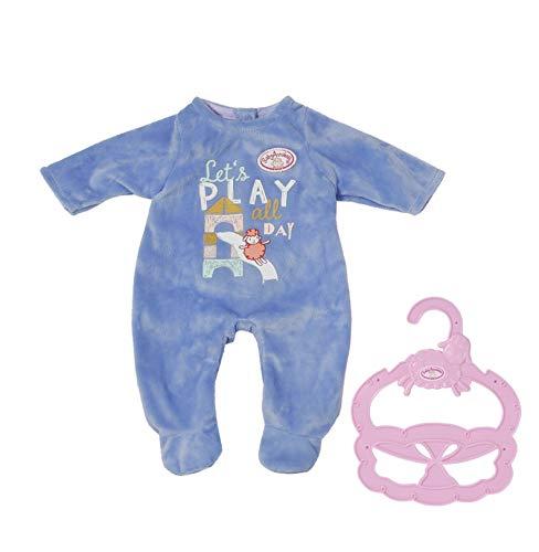 Baby Annabell Little Ropa para Muñecas de 36 cm-para Niñas 12 Meses en Adelante-Fácil para Manos Pequeñas-Incluye Pelele y Percha-Azul (706244)